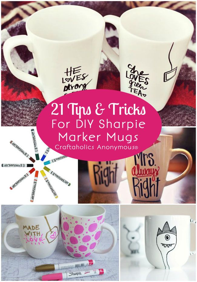 21 DIY Sharpie Marker Mugs tips