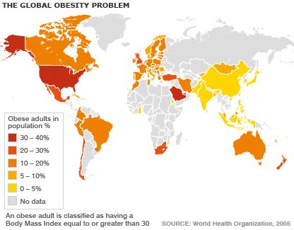 Map of global obesity