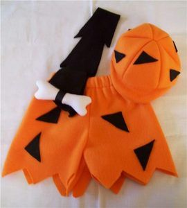 Bam Bam Flintstones Orange Black Halloween Costume Boutique Boys 5 / 6