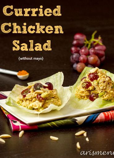 Curried Chicken Salad with out mayo!!! Yummy lunch | aris menu
