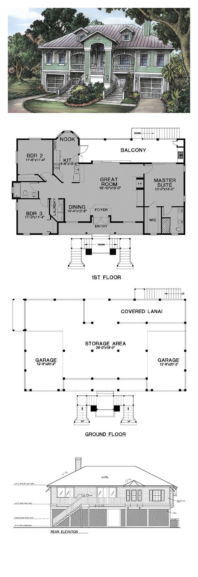 16 best florida cracker house plans images on pinterest cool florida cracker style cool house plan id chp 24536 total living area