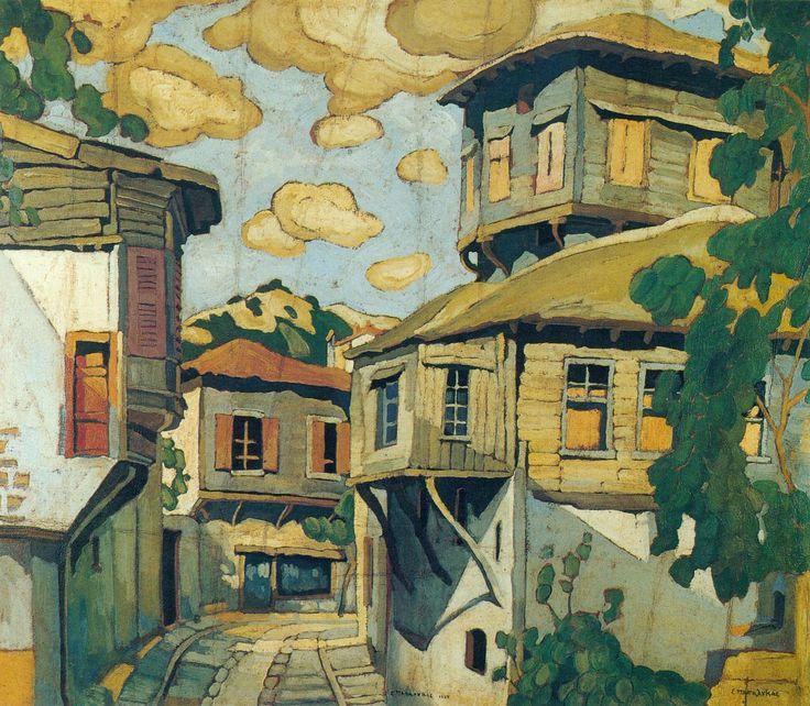 Spyros Papaloukas (Greek, 1892-1957) . see more : http://res-picta.blogspot.gr/2012/01/1892-1957.html