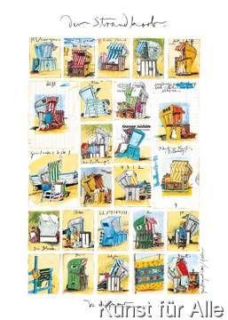 Great Sabine Gerke Der Strandkorb Kunstdruck Poster g nstig kaufen auch auf Rechnung