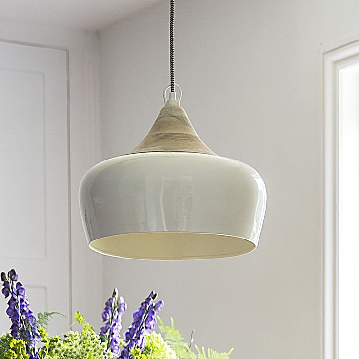 Alhambra Contemporary Ceiling Pendant in Ivory. Atkin and Thyme.co.uk