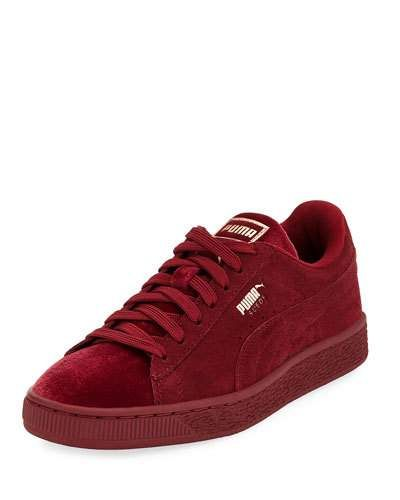 X3Y81 Puma Classic Suede and Velvet Sneaker