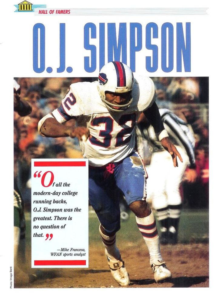 1989 NEWFIELD PUBLICATIONS SPORTS PAGES O.J. Simoson