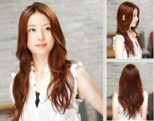 rambut-panjang-bergelombang-wanita-korea - Model Rambut Wanita & Pria