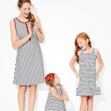 Well-known for their adorable matching pajama sets, Hanna Andersson has always been home to a variety of coordinated outfits for the whole family. These darling cotton dresses easily withstand the wear and tear from playtime, meaning they have some serious hand-me-down potential. Mom can match her crew with this soft, figure-flattering dress. There's even a matching outfit for your little man! Wear these patriotic styles for Memorial Day, Fourth of July picnics, or any events in between…
