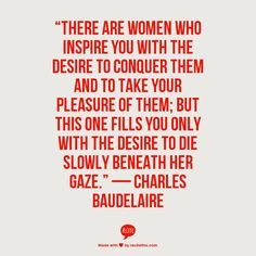 baudelaire quotes love - Google Search