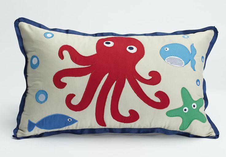'Sea Creatures' decorative cushion