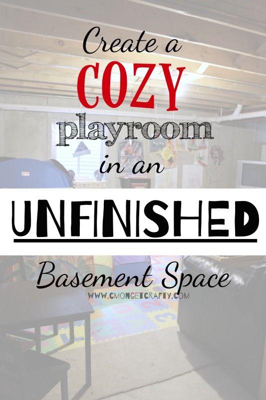 unfinished+basement+ideas+http://cmongetcrafty.com/unfinished-basement-ideas/