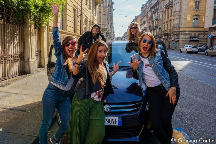 Le Torino Fashion Bloggers provano la swift posh di suzuki a Torino