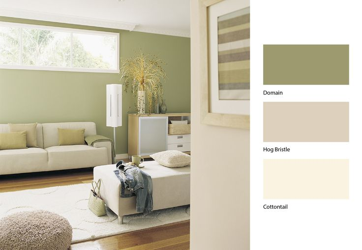 A sun facing room combined with a green shade can be just the thing to give your home the fresh start it needed #Dulux #Paint