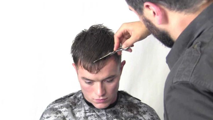 Men's Military Haircut Technique .BLENDING w. CLIPPERS .SCISSORS over COMB .BLEND w. THINNING SHEERS in the DESIRED  STYLING DIRECTION
