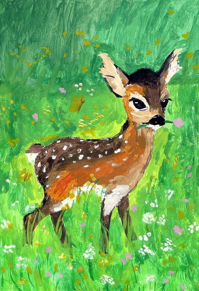 'Bambi' von Susanne Edele bei artflakes.com als Poster oder Kunstdruck $16.63