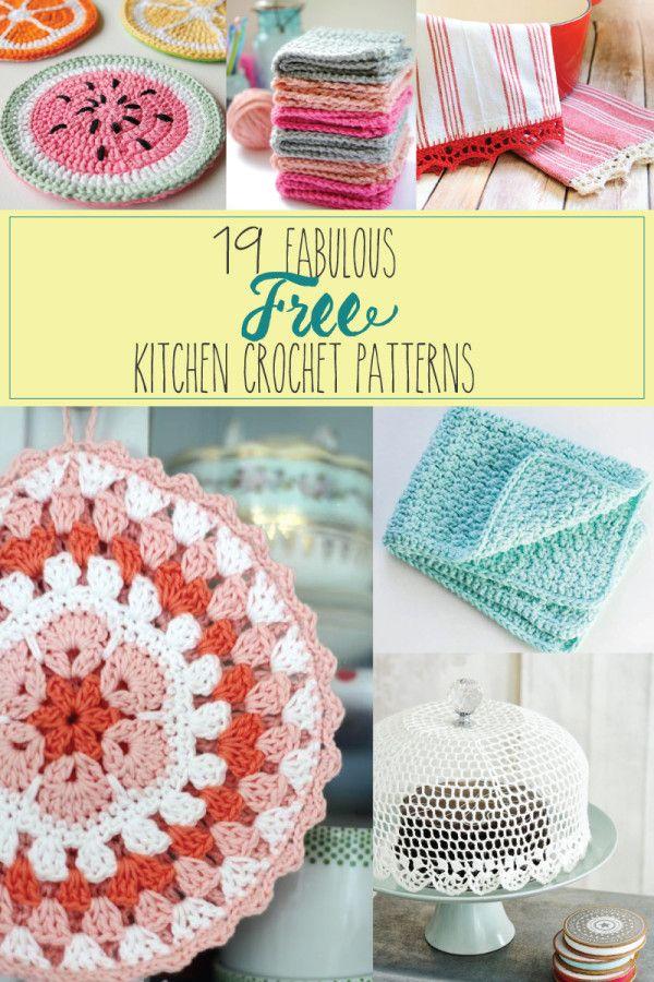 19 Patrones fabuloso y gratuito Cocina Crochet - Me encanta esto!