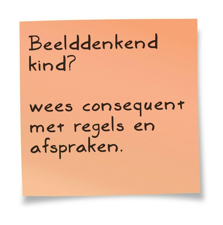 Tip voor ouders van Beelddenkers. Uit het boek DENKEN IN BEELDEN. uitgeverij SWP