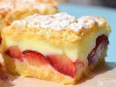Prajitura cu prune si budinca de vanilie