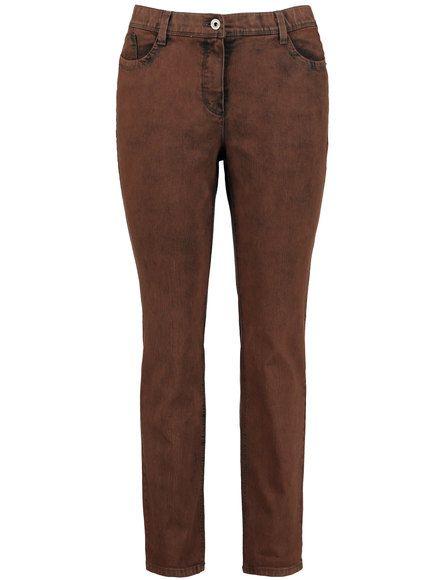 Gecoat stretch-katoen maakt deze 5-pocket jeans een glamour en nobel stuk. De informele used-vlekken onderstrepen de trendy stijl. Voetbreedte ca. 34 ... Bekijk op http://www.grotematenwebshop.nl/product/hippe-jeans/