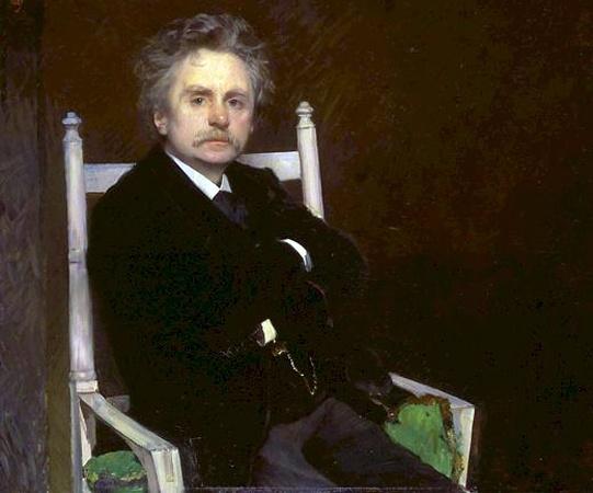 Norwegian Composer Edvard Grieg in an 1891 portrait by Eilif Peterssen