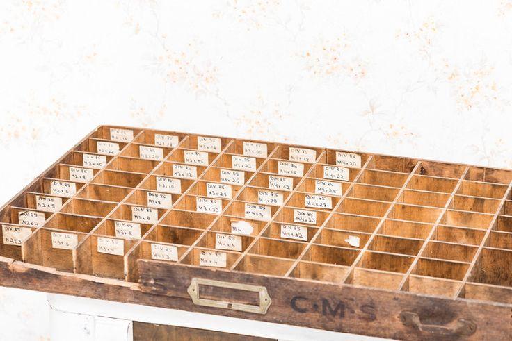 Vintage Aufbewahrung - SETZKASTEN BOX REGAL SHABBY CHIC HOLZ SCHUBLADE - ein Designerstück von Miss-Rosamond bei DaWanda