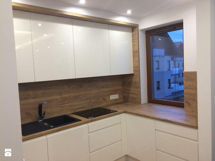 Kuchnia 2 - Mała otwarta kuchnia w kształcie litery l, styl nowoczesny - zdjęcie od szafynawymiar24
