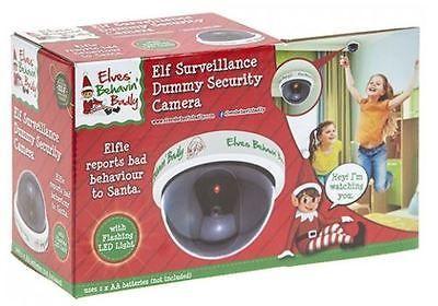 Elf Dummy Security Spy Camera Elves Novelty Xmas LED Light Elf Toys Fun Props