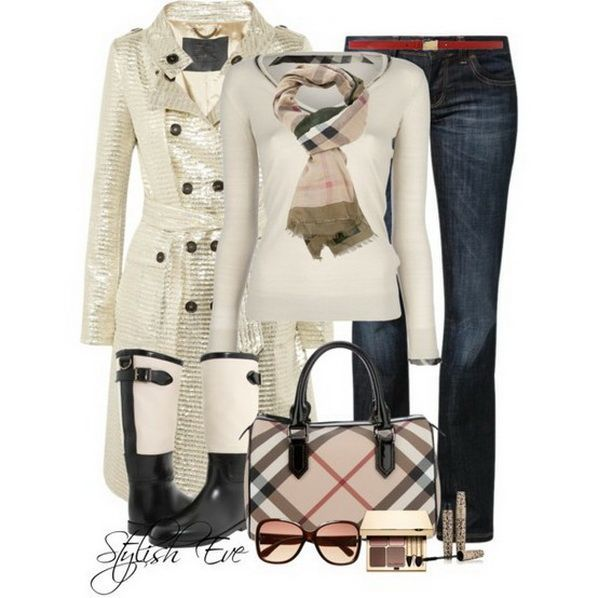 Love – Burberry Winter 2013 Outfits for Women by Stylish Eve