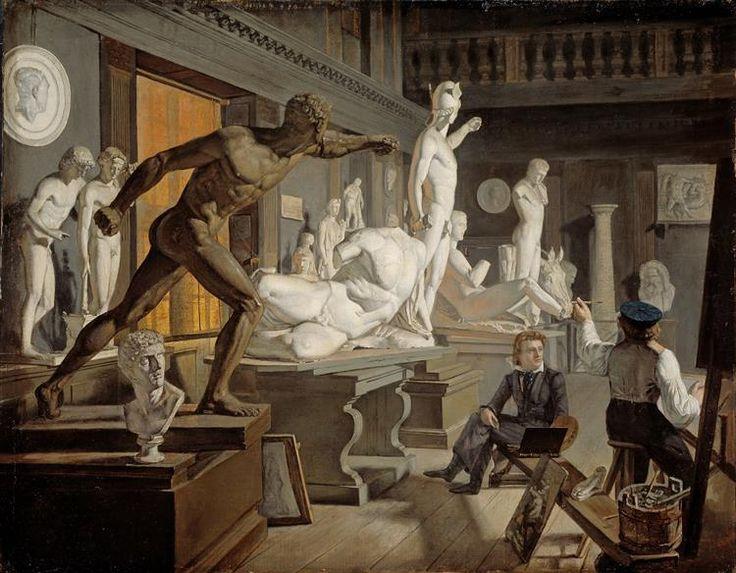 Scene From The Academy In Copenhagen 1828 Knud Baade