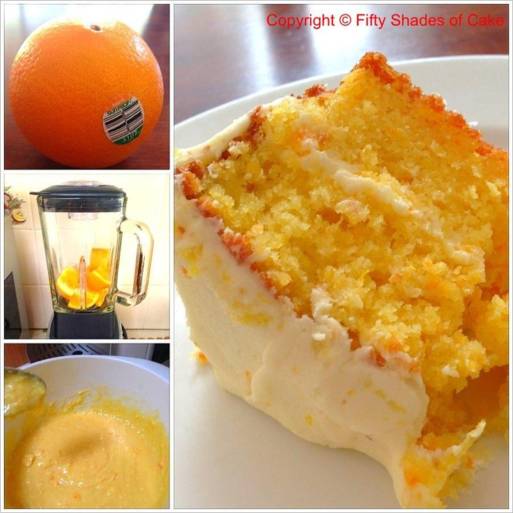 Orange Cake - with whole oranges. A family favourite. Should have 180gms of butter not 108gms