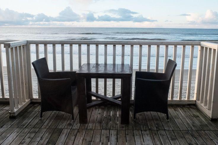 Am Strand von Texel: Ausblick vom Strandpavillon Paal 19 1/2