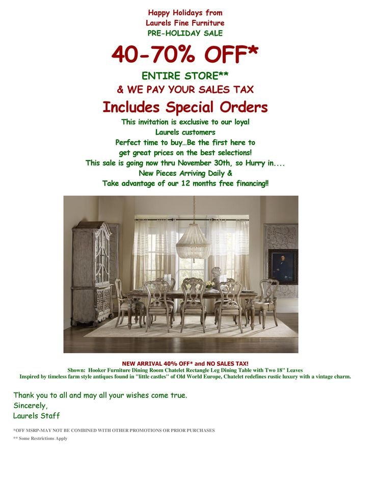 Happy Holidays from Laurels Fine Furniture PRE HOLIDAY SALE 40 70  OFF. 13 best Laurels Fine Furniture images on Pinterest   Fine
