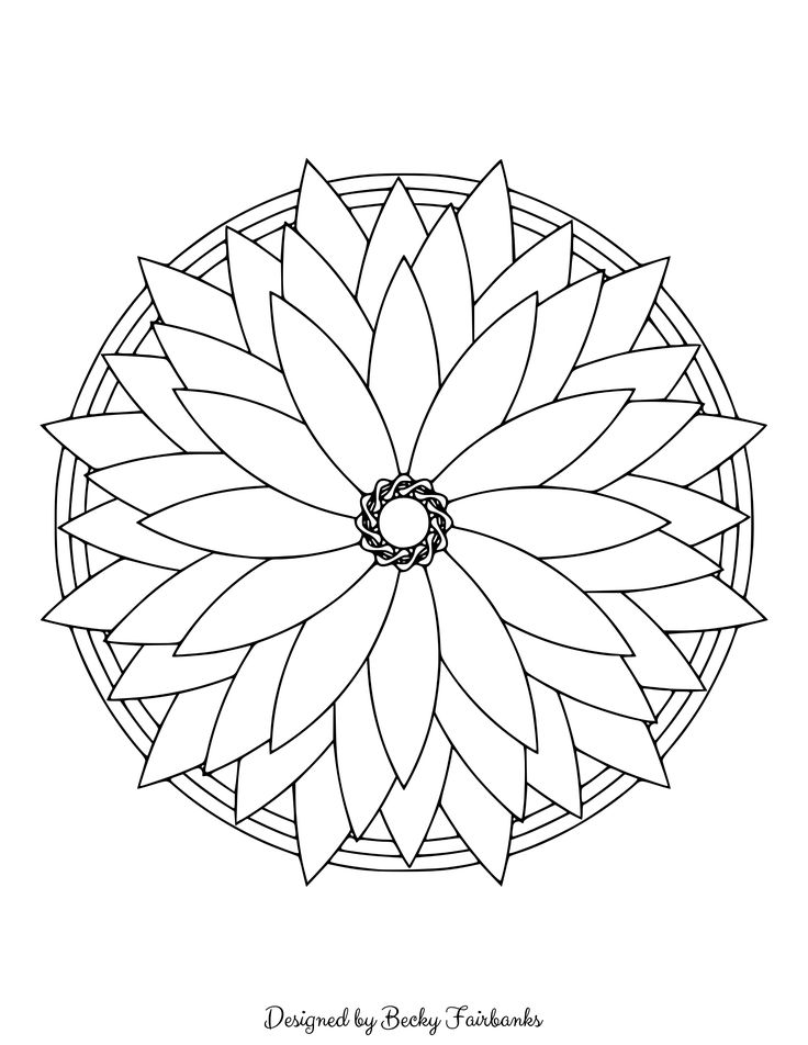 Here's a sample page from Simple Mandalas for you to print