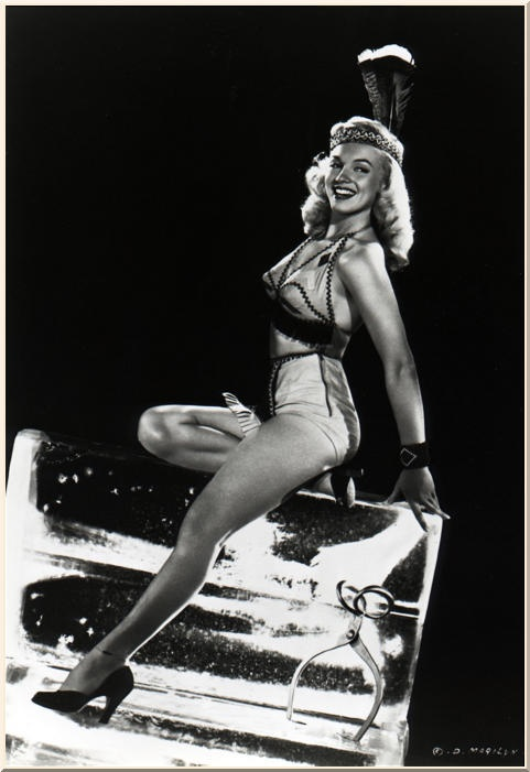Indian Maiden Pin Up Marilyn Monroe Rare Very Early Sexy Vintage Photograph 1948