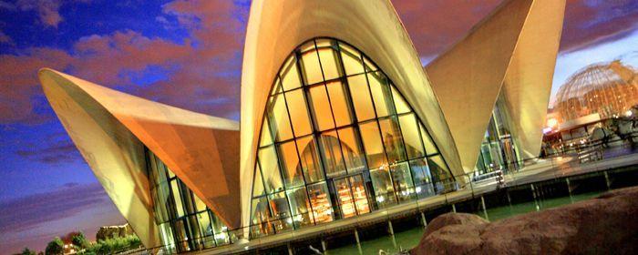 Valencia Spain  The Oceanografic   City of Arts and Sciences  Europe's largest aquarium