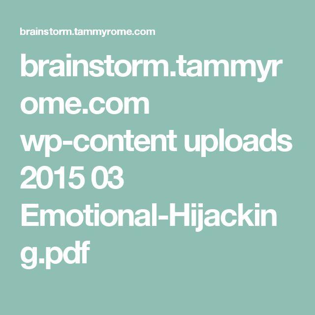41 best emotional intelligence images on Pinterest Emotional - emotional intelligence pdf