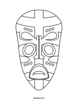 Printable African Mask - symmetry