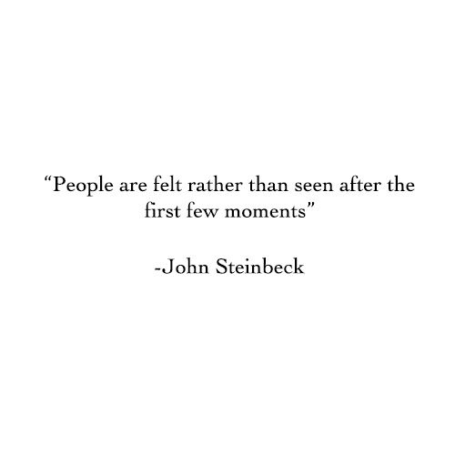 So true when I think of someone I dont see their face so much as feel their personality.