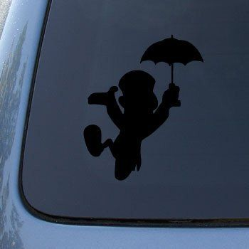JIMINY CRICKET SILHOUETTE - Jimminy Pinocchio Disney - Vinyl Car Decal Sticker #1721 | Vinyl Color: Black