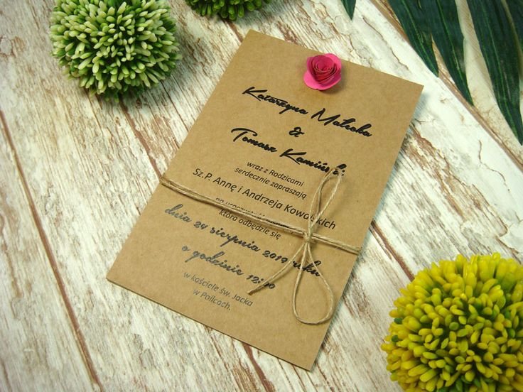 zaproszenia ślubne z różyczkami E5