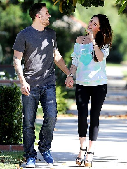 A beaming (and reportedly pregnant) Megan Fox can't keep her eyes off hubby Brian Austin Green during a sunny stroll Thursday in L.A.