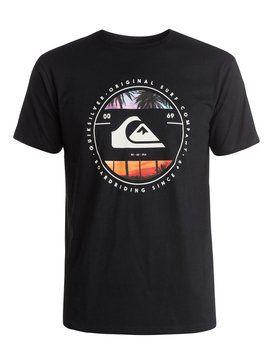 quiksilver, Classic Between The Lines - T-Shirt, BLACK (kvj0)