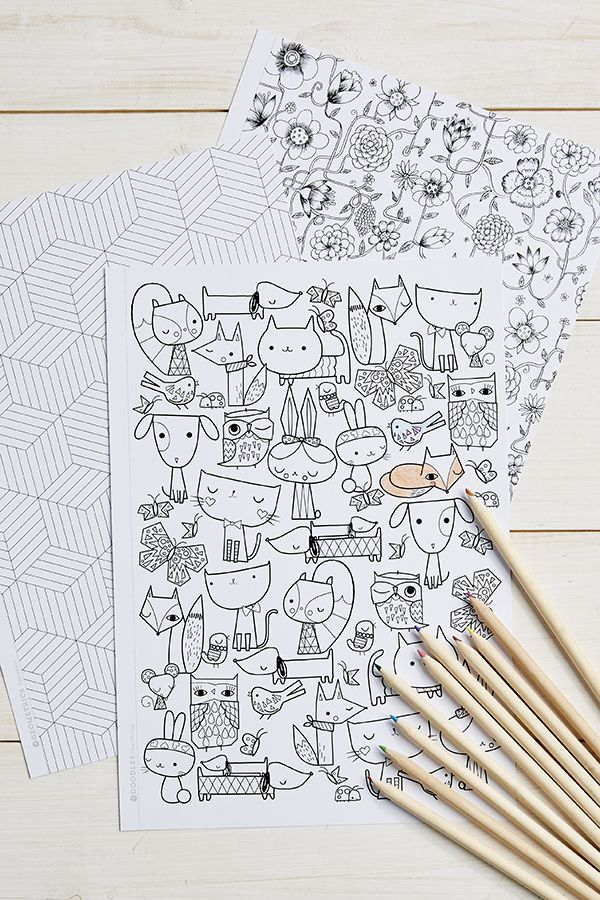 Mollie Makes Colouring | Free printable coloring sheets