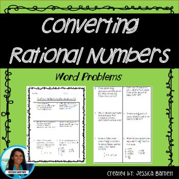 Converting Rational Numbers Word Problems is a sheet with 6 test style questions to help prepare students for testing. This resource is grouped with additional activities in the  Converting Rational Number Activity Pack~~~~~~~~~~~~~~~~~~~~~~~~~~~~~~~~~~~~~~~~~~~~~~~~***Earn TPT credits for future purchases by leaving feedback******Follow me to be the first to know about special deals and when I've posted new products!!***