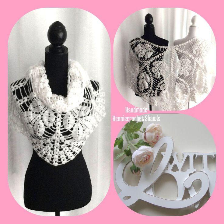 Een persoonlijke favoriet uit mijn Etsy shop https://www.etsy.com/nl/listing/547329710/gehaakte-bruids-sjaal-omslagdoek-witte