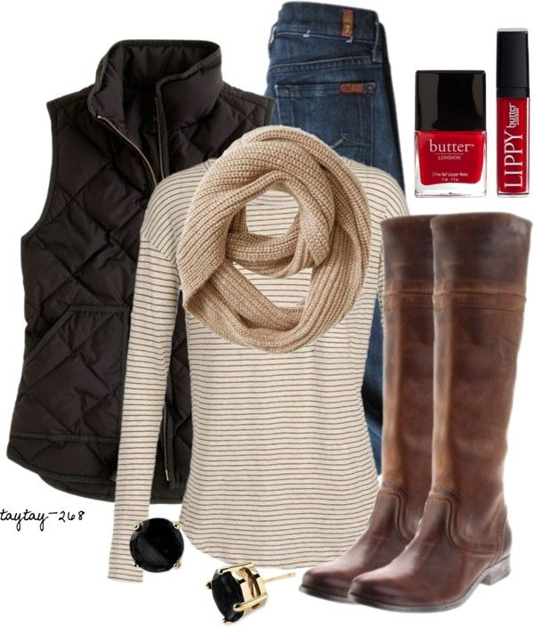 """Tan & Black"" by taytay-268 on Polyvore"