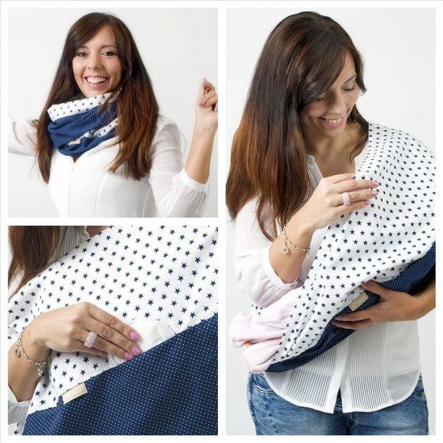Hübsche Stillmode: Stillschal mit Einschub für Stilleinlage / For mothers: breast-feeding scarf with slot for nursing pad by Mania-Stillmode via DaWanda.com