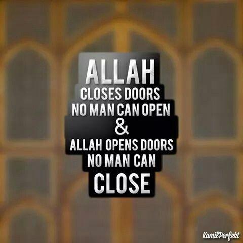 Allah opens dors