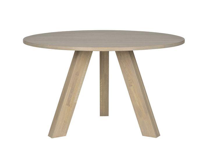 WOOOD tafel Rhonda 129 x 77 cm fumed