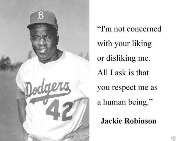 "Jack roosevelt ""jackie"" robinson (january 31, 1919 – october 24, 1972) was an american major league baseball (mlb) second baseman who became the first african. Description from reflectionsquotes.com. I searched for this on bing.com/images"